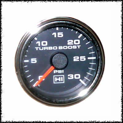30 PSI Boost Gauge Chrome