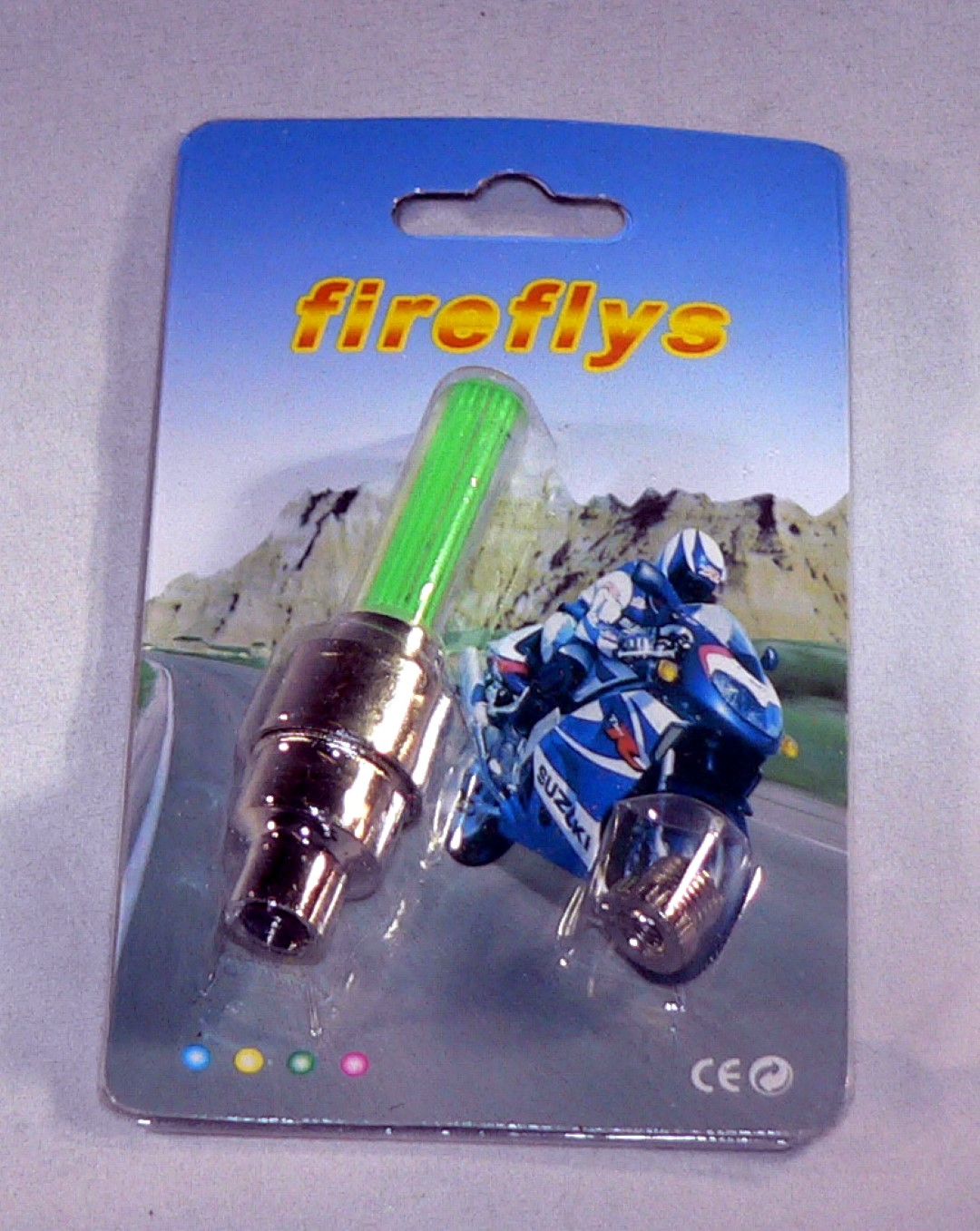 Green Fire Fly Valve Stem Cap LED