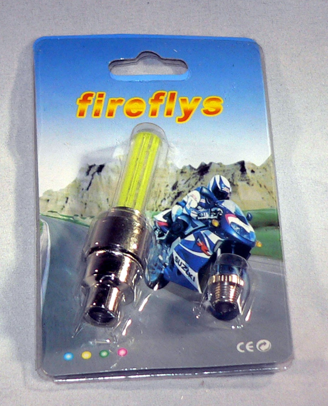 Yellow Fire Fly Valve Stem Cap LED