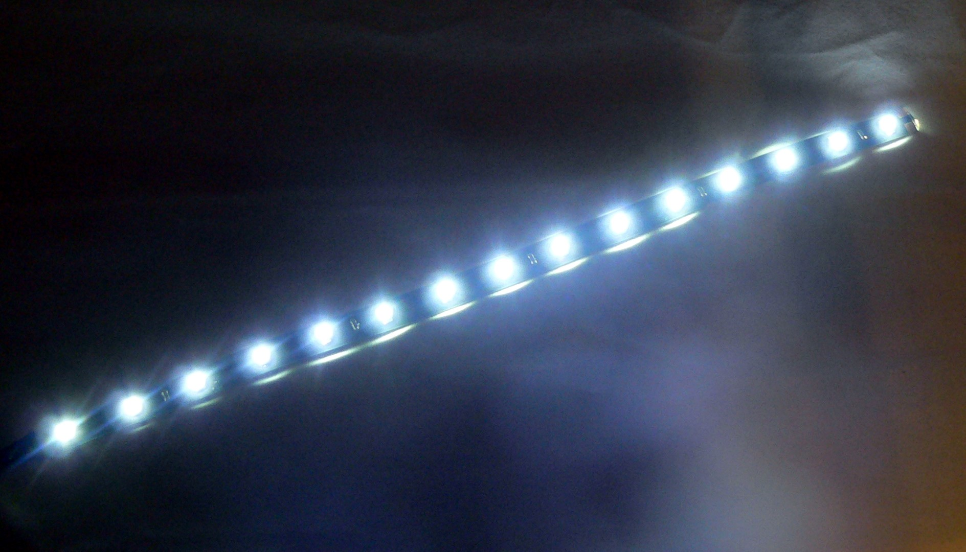 White 15 LED Strip Adhesive Backed 1 Foot (30cm) Long