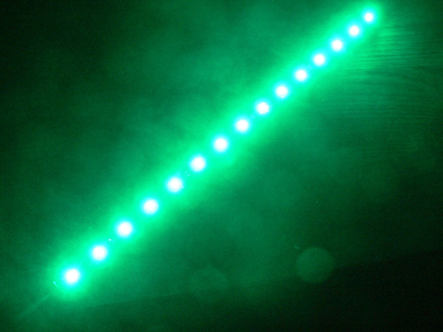 Green 15 LED Strip Adhesive Backed 1 Foot (30cm) Long