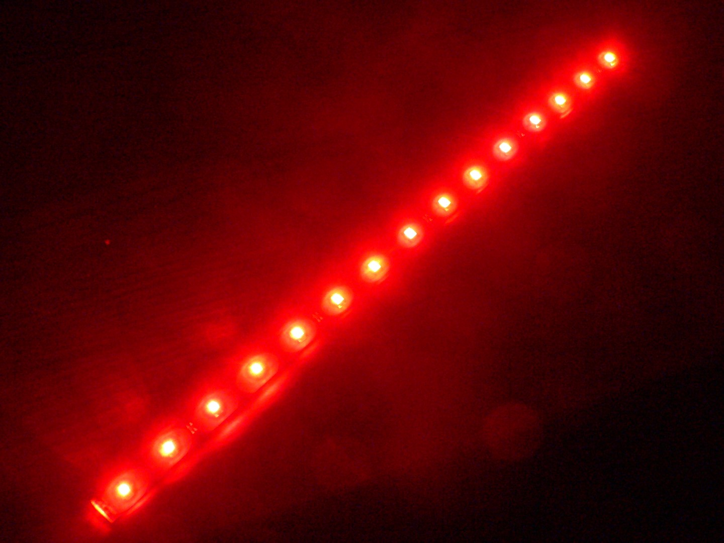 Red 15 LED Strip Adhesive Backed 1 Foot (30cm) Long